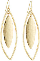 Fragments for Neiman Marcus Golden Layered Leaf Drop Earrings