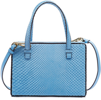 Loewe Postal Python Top-Handle Bag