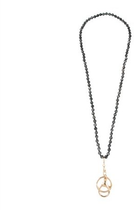Riah Fashion Key Chain Holder Hook Buckle Long Necklace