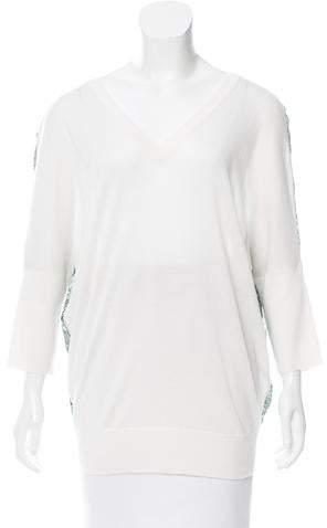 Derek Lam Cashmere Silk-Trimmed Sweater w/ Tags