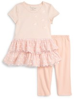 Toddler Girl's Pippa & Julie Ruffle Hem Tee & Leggings Set