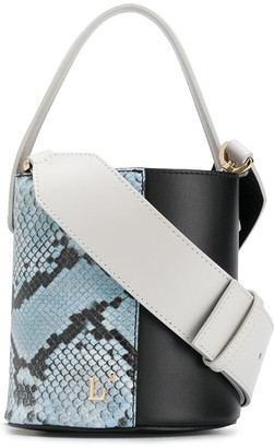 L'Autre Chose Snakeskin Effect Bucket Bag