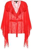 Roberto Cavalli Printed silk-blend blouse