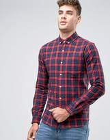 Asos Checked Shirt In Red