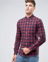 Asos Regular Fit Check Shirt In Red