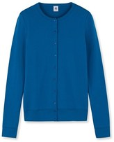 Petit Bateau Womens iconic cotton cardigan