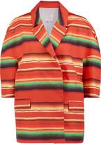 Stella Jean Striped cotton-poplin jacket