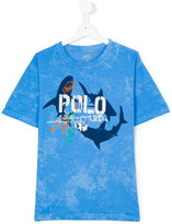 Polo Ralph Lauren sharks print T-shirt - kids - Cotton - 14 yrs