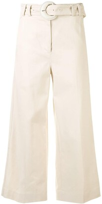 Proenza Schouler White Label Wide-Leg Cropped Trousers