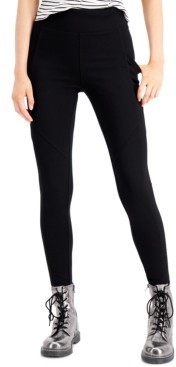 Rewash Juniors' High-Waist Side-Pocket Ponte Leggings
