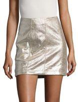 Free People New Modern Femme Vegan Metallic Mini Skirt