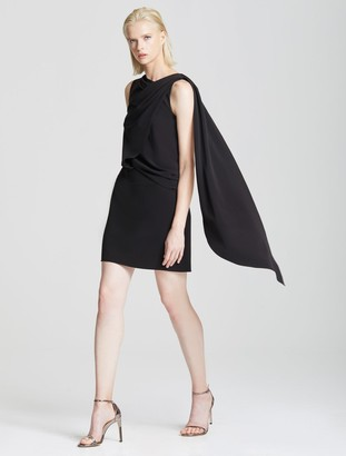 Halston Asymmetric Drape Dress