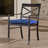 Crate & Barrel Regent Dining Chair with Sunbrella ® Cushion