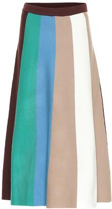 Victoria Victoria Beckham Striped knit midi skirt