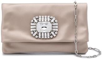 Jimmy Choo Titania crystal-embellished clutch
