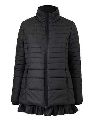 Simply Be Frill Hem Padded Jacket
