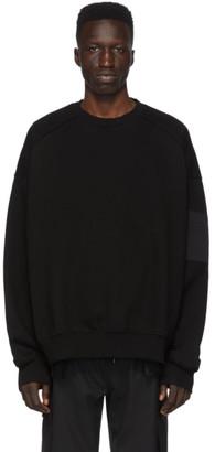Juun.J Black Zip Sleeve Detail Sweatshirt