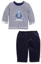 Absorba Infant Boys' Striped Penguin Top & Corduroy Pants Set - Sizes 0-9 Months