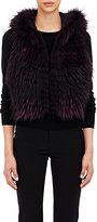 J. Mendel Women's Fur Vest-RED