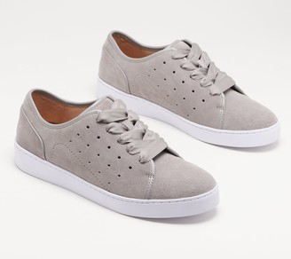 Vionic Suede Lace-Up Sneakers - Keke