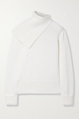 Monse Draped Merino Wool Turtleneck Sweater - Ivory