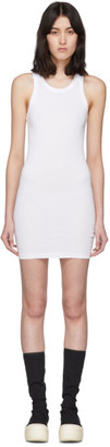 Rick Owens White Rib Tank Short Dress