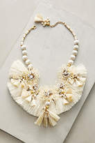Suzanna Dai Raffia Blooms Bib Necklace