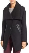 Trina Turk Women's 'Maddi' Knit Collar Cutaway Wool Blend Coat