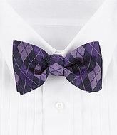 Daniel Cremieux Tonal Argyle Silk Bow Tie