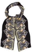 Roberto Cavalli Abstract Print Silk Stole
