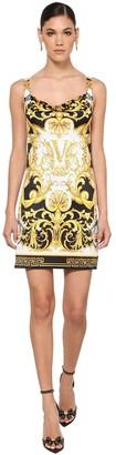 Versace Medusa Printed Stretch Jersey Mini Dress
