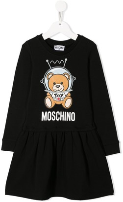 MOSCHINO BAMBINO Teddy Bear Flared Dress