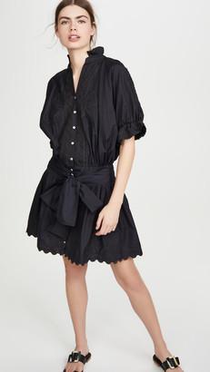 Juliet Dunn Poplin Blouson Dress