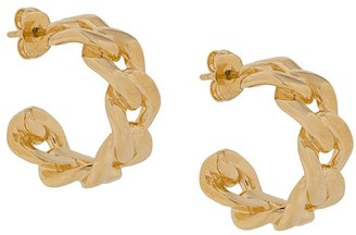 Maison Margiela Chain-Link Hoop Earrings
