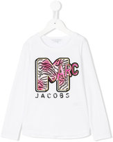 Little Marc Jacobs logo embroidered long-sleeve T-shirt