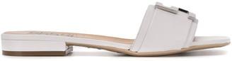 Sergio Rossi Logo Plaque Low Heel Sandals