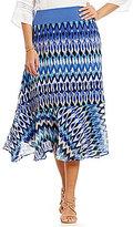 Multiples Pull-On Printed Flounce Hem Skirt