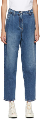 MSGM Blue Loose Fit Jeans