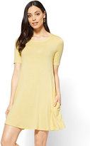 New York & Co. Short-Sleeve Swing Dress