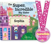 Toddler 'The Super, Incredible Big Sister' Personalized Hardcover Book & Medal