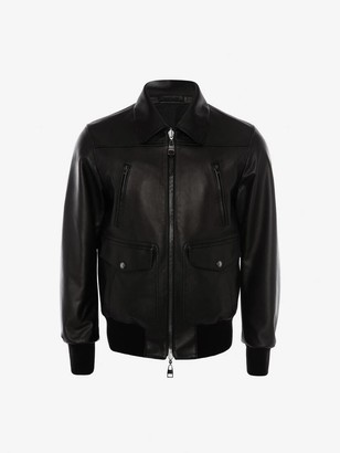 Alexander McQueen Reversible Leather Bomber Jacket