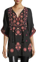 Tolani Khalisse Half-Sleeve Embroidered Tunic