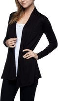 Apparel Sense A.S Womens Rayon Jersey Draped Open Front Cardigan