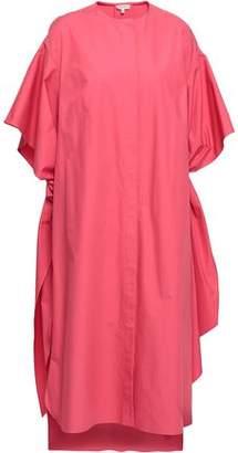 DELPOZO Oversized Tie-detailed Cotton-poplin Midi Dress