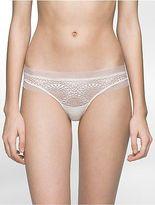 Calvin Klein Womens Black Endless Thong Underwear