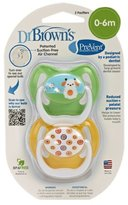 Dr Browns Dr. Brown's PreVent Design Pacifier, Neutral, Stage 1, 0-6 Months (Discontinued by Manufacturer)