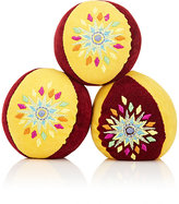 Eeboo EMBROIDERED VELVET JUGGLING BALLS
