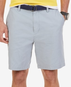 """Nautica Men's Big & Tall 10"""" Flat Front Deck Shorts"""