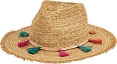 San Diego Hat Company Fedora with Multi Color Tassels UBF1104 (Women's)