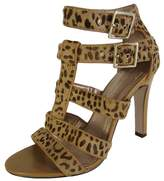 BCBGeneration BCBG Womens BG-Paulies 2 Leopard Strappy Pump Shoe, Tan, US 9